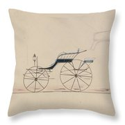 Design For Driving Phaeton Unnumbered Brewster And Co. American, New York Throw Pillow
