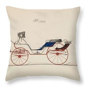 Design For Eight Spring Victoria, No. 1056 Brewster And Co. American, New York Throw Pillow