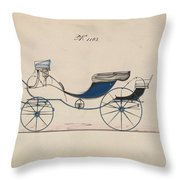 Design For Eight Spring Victoria, No. 1103 Brewster And Co. American, New York Throw Pillow