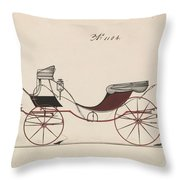 Design For Eight Spring Victoria, No. 1104  1850-74 Throw Pillow