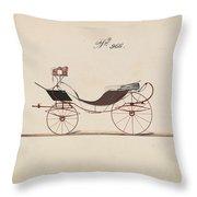 Design For Eight Spring Victoria, No. 966  1850-74 Throw Pillow