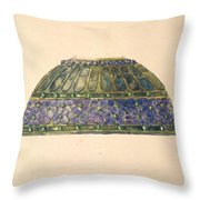 Design For Floral Lamp  Louis Comfort Tiffany American, New York 1848-1933 New York Throw Pillow