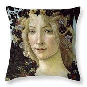 Detail From The Primavera, Circa 1478, Tempera On Panel Throw Pillow
