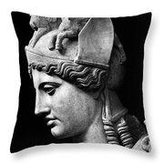 Detail Of The Face Of Athena Farnese Throw Pillow