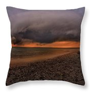 Detroit Point Storm Moving In Throw Pillow