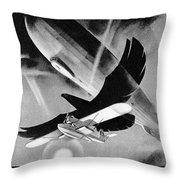 Deutsche Luftpost Throw Pillow