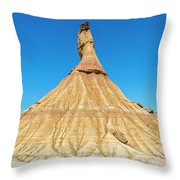 The Desert Of The Royal Bardenas Throw Pillow