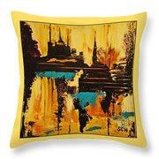 Dharma In The Desert Throw Pillow