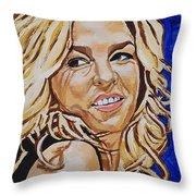 Diana Krall Throw Pillow