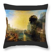 Dido Who Builds Carthage - Digital Remastered Edition Throw Pillow