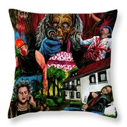 Die Damonische Morderoma Throw Pillow