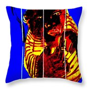Digital Monkey 3 Throw Pillow
