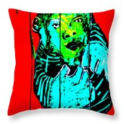 Digital Monkey 4 Throw Pillow