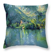 Lake Annecy - Digital Remastered Edition Throw Pillow