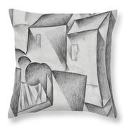 Digital Remastered Edition - Houses In Paris, Place Ravignan - Original White Throw Pillow