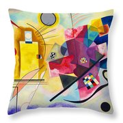 Digital Remastered Edition - Yellow, Red, Blue Throw Pillow