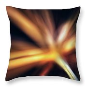 Dill Flower Abstract Throw Pillow