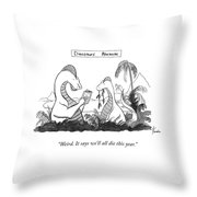 Dinosaur's Almanac Throw Pillow