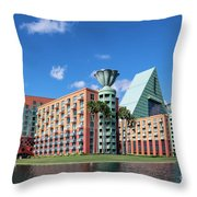 Disney Dolphin Hotel Throw Pillow