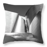 Disney_concert_hall Throw Pillow by Mark Shoolery