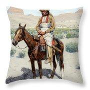 Distant Village, 1890 Throw Pillow