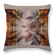 Distracted By Thoughts Throw Pillow