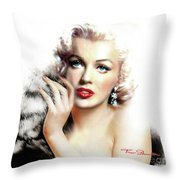 Diva Mm Bright Throw Pillow