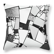 Divided Shapes Throw Pillow