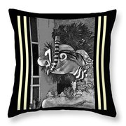 Diving The Great Barrier Reef In Black And White Throw Pillow