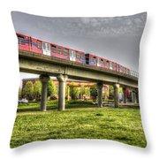 Docklands Light Railway Train  Throw Pillow