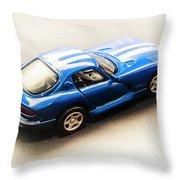 Dodge Viper Gts Throw Pillow