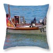 Doggone Fishin Throw Pillow