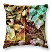 Dogwood Abstract Throw Pillow