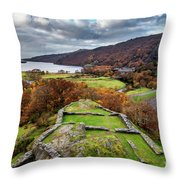Dolbadarn Castle View Throw Pillow