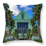 Dolphin Hotel Throw Pillow