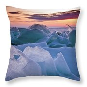 Door County, Wisconsin Sunset Throw Pillow by Sam Antonio Photography
