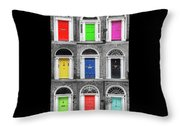 Doors Of Dublin - Vertical Throw Pillow