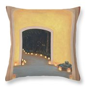 Doorway To The Festival Of Lights Throw Pillow