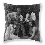 Doris Ulmann   1882-1934  Four Musicians Including A Man Playing A Guitar, A Man Playing A Violin Throw Pillow