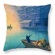 Dotonbori Morning - Top Quality Image Edition Throw Pillow