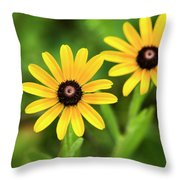 Double Daisies Throw Pillow
