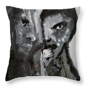 Double Portrait Throw Pillow
