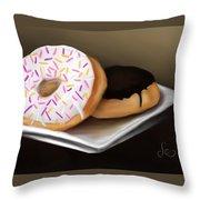 Doughnut Life Throw Pillow