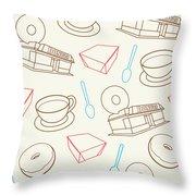 Doughnut_wallpaper_f3 Throw Pillow