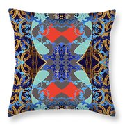 Down The Hall Throw Pillow