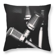 Downtown And Dimly Lit  Throw Pillow