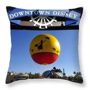 Downtown Disney Tribute Poster 2 Throw Pillow