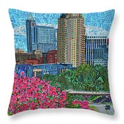 Downtown Raleigh Throw Pillow