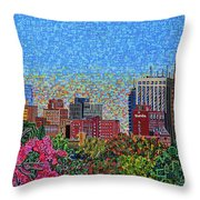 Downtown Raleigh - October Sunset Throw Pillow