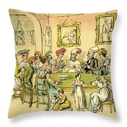 Dr Syntax At A Card Party Throw Pillow